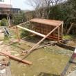 自作木製物置1号棟解体完了